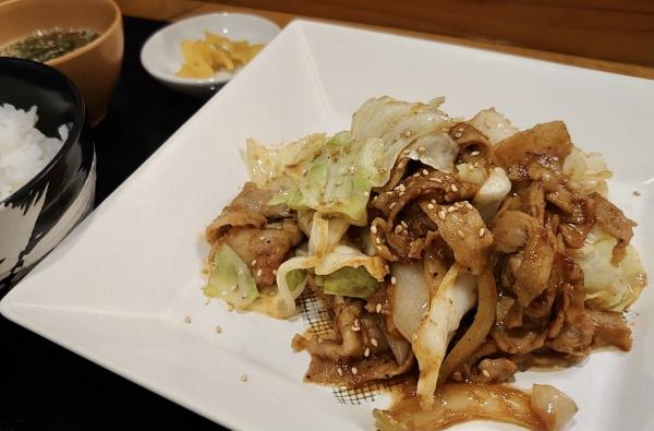 豚肉のクコ旨味噌炒め定食
