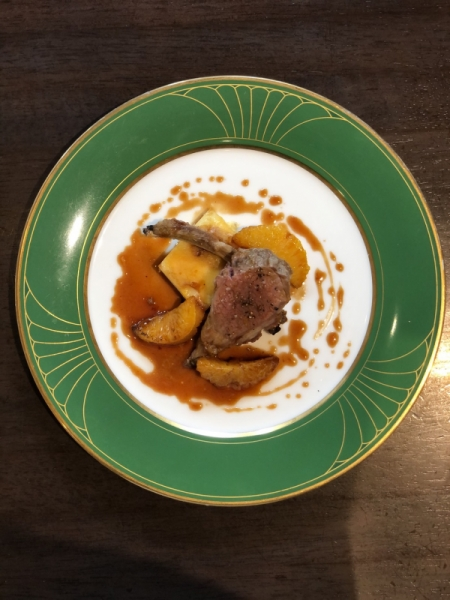 仔羊のロースト カンパリオレンジのソース